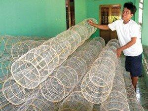 Nghề đan lờ ở Cà Mau