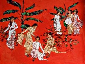 Tổng quan về tranh sơn mài Việt nam qua những tác phẩm & họa sĩ tiêu biểu